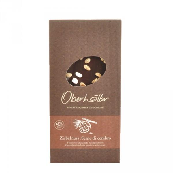 Feinbitterschokolade Zirbelnuss