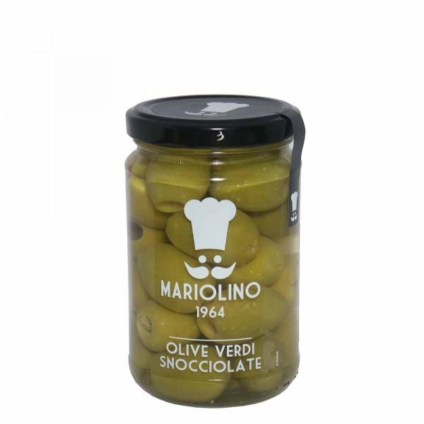 Entkernte grüne Oliven 314g