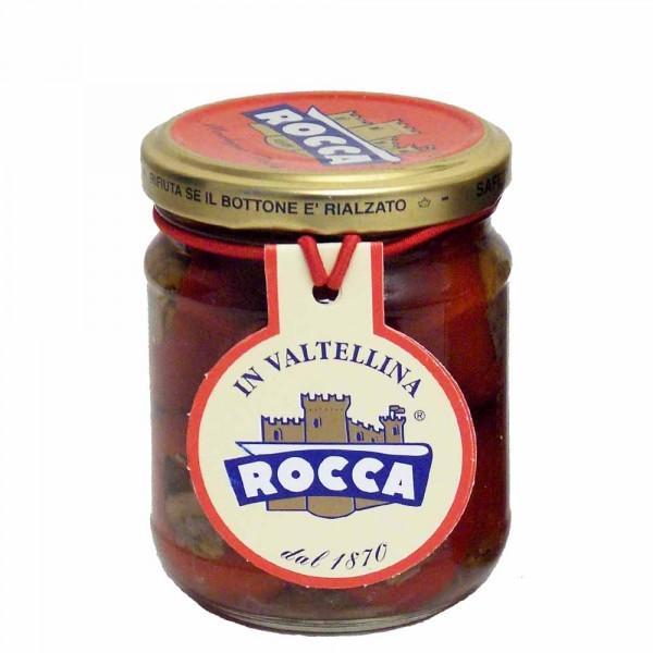 Rocca Peperoni gefüllt mit Sardellen und Kapern