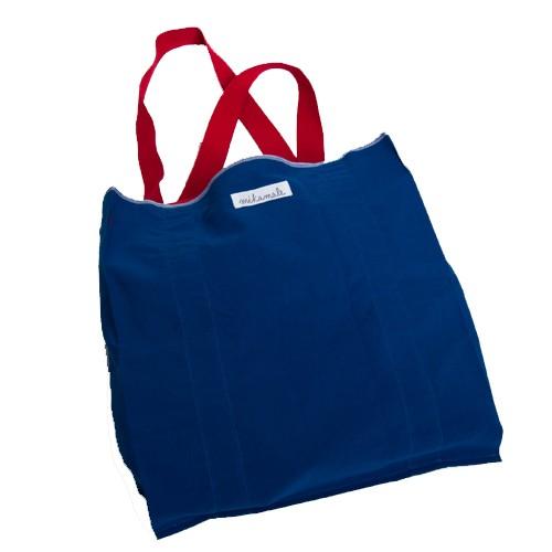 Pur Manufactur Stofftasche mit roten langen Tragehenkeln