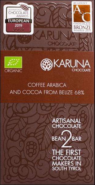Schokolade 68 % Arabica Bio