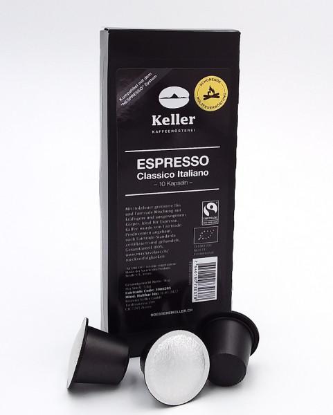 Espresso Classico Italiano - BIO und fairtrade; KAPSELN