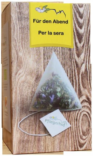 Für den Abend Tee Bio Pyramidenbeutel