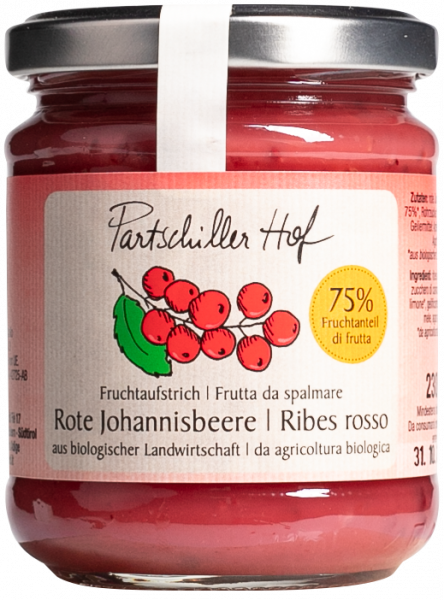 Rote Johannisbeere Bio Fruchtaufstrich