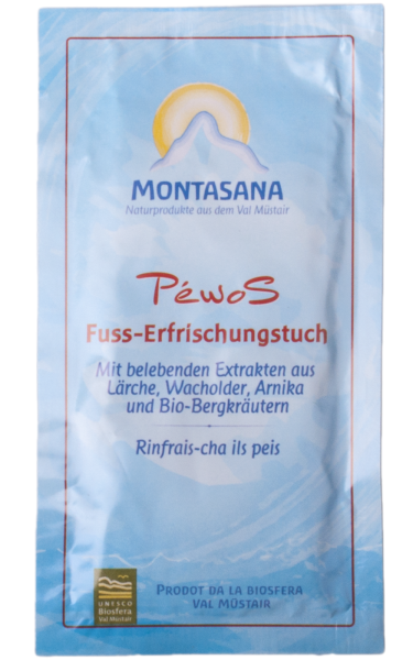 Péwos Fuss-Erfrischungstuch