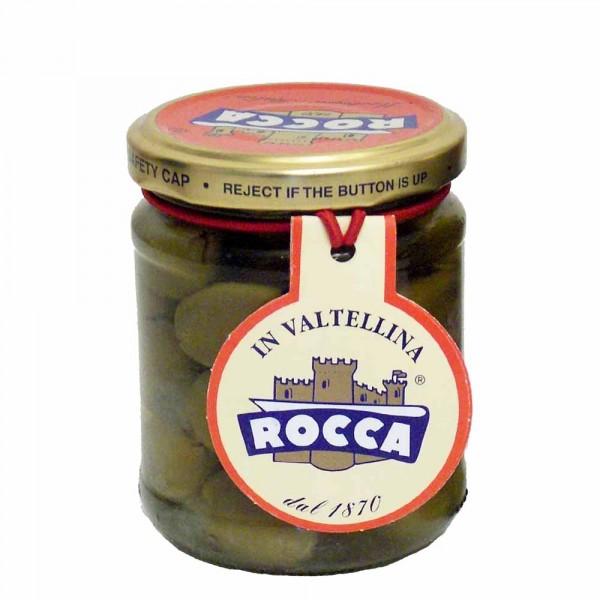 Rocca Oliven gefüllt mit Kappern und Sardellen 212g