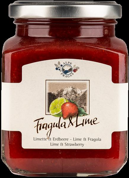 Fruchtaufstrich Erdbeere und Limette