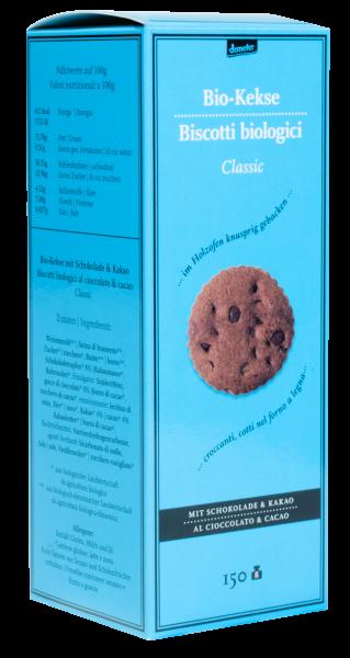 Kekse mit Schokolade und Kakao Bio