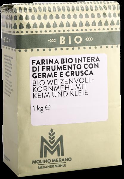 Weizenvollkornmehl Bio mit Getreidekeim