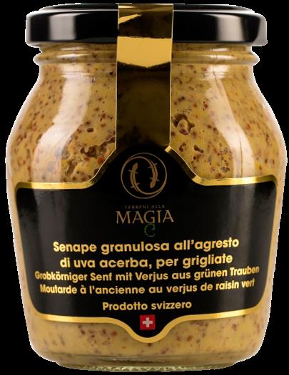 Grobkörniger Senf mit Tessiner Trauben Verjus