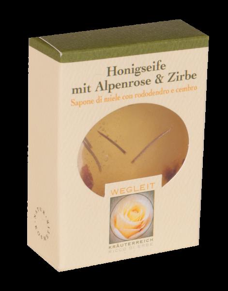 Honigseife mit Zirbe und Alpenrose