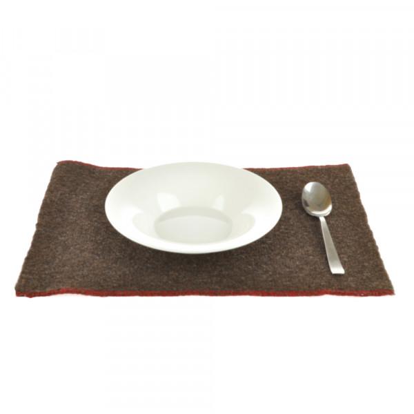 Tischset dunkelbraun Wolle