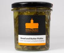 Bread and Butter Pickles, süss-saure Gurken, Glas
