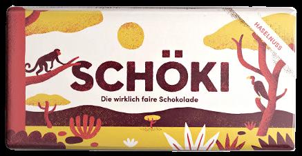 Schweizer BIO Milchschokolade mit ganzen Haselnüssen