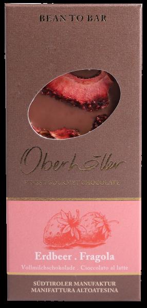Vollmilchschokolade Erdbeere