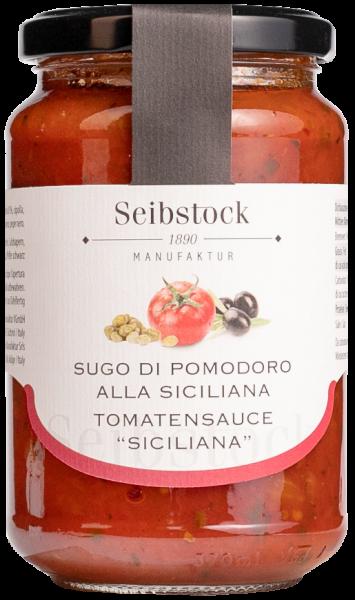 Tomatensauce Siciliana Oliven und Kapern