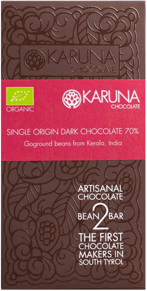 Schokolade 70 % Single Origin India Bio