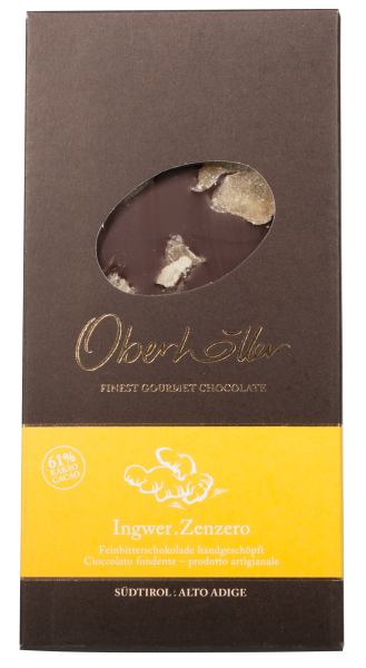 Feinbitterschokolade mit Ingwer